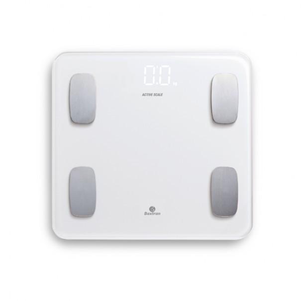 Balanza de baño con bluetooth para medir la grasa corporal Crystal